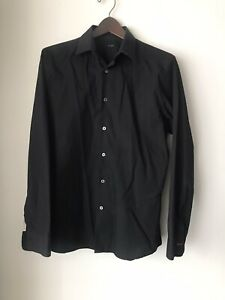 Paul Smith Black Slim Button Up Shirt Sz S