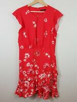 [ PORTMANS ] Womens  Floral Blossom Frilled Sleeve Dress | Size AU 14 or US 10