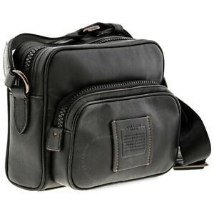 Coach Mens Black Leather Academy Sport Crossbody Messenger Bag 69690 NWT $450