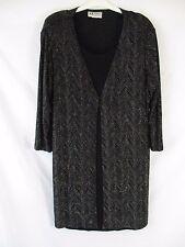 S.L. Fashions Womens 20WP Black Sparkly Evening Long Sleeve Sheath Dress BB146