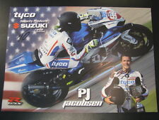 Tyco Security Products Suzuki TAS Racing BSB 2012 #99 PJ Jacobsen (USA) + signat