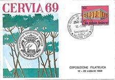 CARTOLINA d'Epoca: RAVENNA: CERVIA - PUBBLICITARIA FIRMATA CUMO 1969