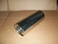 """5"""" Round x 12"""" Long 2.5"""" Bore Universal stainless steel exhaust silencer"""