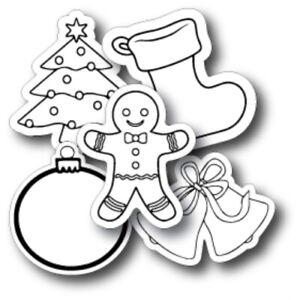 Refrigerator Magnet Stocking Stuffer Santa Magnet Faux chalkboard Fridge magnet ACEO Xmas Magnet Christmas Magnet 5979