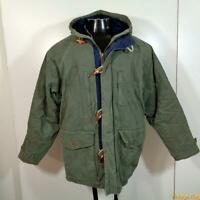 PACIFIC TRAIL Cotton Ski DUFFLE JACKET mens Size M Sage green zippered hooded