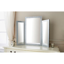 TAVOLINO da TOELETTA Glitter 3 pezzi camera da letto di grandi dimensioni non associate Make-Up Specchio Ragazze