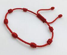 Pulsera Roja de 7 Nudos Ajustable