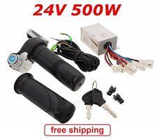 DC24V 500w Motor Brush Speed Controller & Electric Bike Throttle Twist Grips