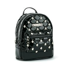 Authentic Rock Rebel Unicorn Studded Quilted Mini Backpack Black NEW