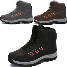 Womens Winter Warm Casual Faux Suede Fur Lace-up Ankle Snow Boots High Top Shoes