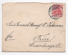 1910 GERMANY Cover SAALFELD to TRIER SG85a