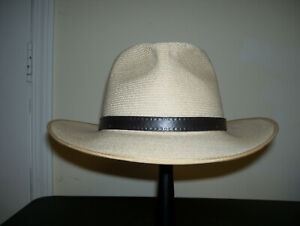 Akubra hemp Balmoral straw hat Australia fedora natural color size 59 7 1/2 NICE