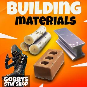 Fortnite Save The World - BUILDING MATERIALS - Choose from list Wood,Stone,Metal