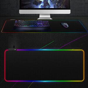 Mice Mat Desk Blanket LED Non-slip Luminous Mouse Pad Gaming RGB For PC Laptop