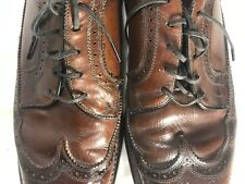 Vintage Worthmore Brown Leather Longwing Wingtip Dress Shoes Size 11C.