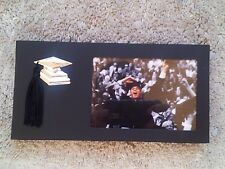 NEW-GRADUATION GRAD Picture Frame Black with tassel, small photo