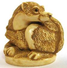 MPS Harmony Kingdom: QTs: Small Pine Marten Figurine - Inspired by Netsuke - NIB