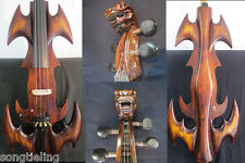 Nice model fancy Crazy-1 art streamline carving dragon  4/4 electric cello