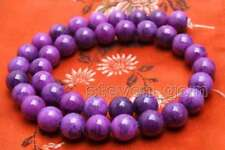 10mm purple Round natural sugilite Loose Beads strand 15'' jewelry making-los766