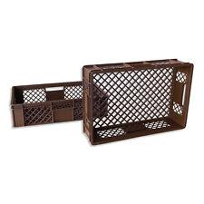 2 x Brotkiste Obst-/ Gemüsebox Lagerkiste Transportbox Gitterbox braun 15cm Höhe