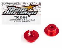 RC Team Durango TD320196 Alum Front Bulkhead Button Red DEX210F DEX210 Optional