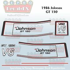 1986 Johnson GT150 HP V6 Sea-Horse Outboard Repro 16 Pc Marine Vinyl Decals