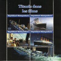 Madagascar Ships Stamps 2020 CTO Titanic Movies Leonardo Dicaprio Boats 4v M/S