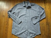 Peter Millar Men's Size XL Shirt Plaid Button Front Long Sleeve Collared Cotton
