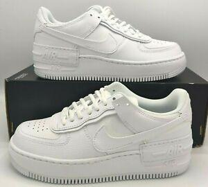 Womens Nike Air Force 1 Shadow Triple White Shoes Size 7.5 -CI0919-100