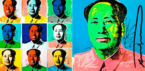 Chairman Mao A1 by Andy Warhol High Quality Canvas Print