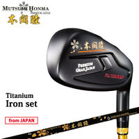 2019 MUTSUMI HONMA Golf Japan Forged Full Titanium Iron set #6,7,8,9,Pw 19at