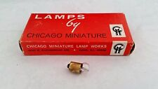New listing Chicago Miniature 356 Miniature Lamp 28 Volt 0.17 Amp G3-1/2 Bayonet Box Of 10