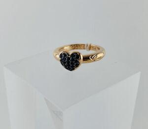 Guess Ring Damen Damenring Gold Herz Schwarz Gr. 54 Modeschmuck Jewellery NEU