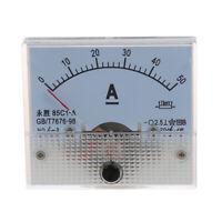 85C1 DC 0-50A Rechteck Analog Panel Amperemeter Lehre I8I3