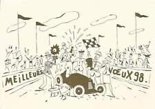 CARTE DE VOEUX . AVRIL . CHAMPAGNE BROCHET-HERVIEUX . 1998 .
