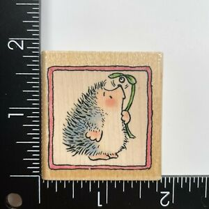 Penny Black Hedgehog Christmas Wishes 1510C Wood Mounted Rubber Stamp