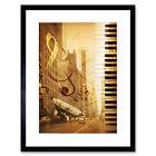 Music Mock Up Broadway New York Jazz Sax Framed Wall Art Print