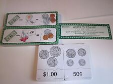Learning Resources Money Puzzle Cards Coin Matching Change Math LER0107 LER0655