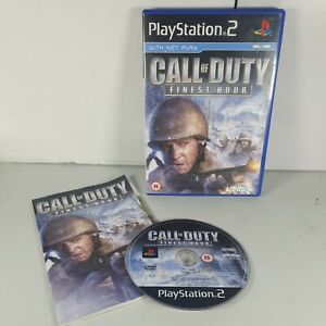 Call of Duty Finest Hour CoD Playstation PS2 Action Video Game Manual PAL