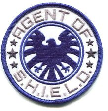 THE AVENGERS agent of s.h.i.e.l.d EMBROIDERED IRON-ON PATCH d39201 marvel shield