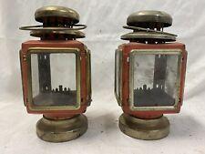 2 Vintage Tin Oil Lantern