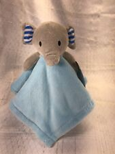 New listing Forever Baby Infant Lovey Security Blanket Blue Gray Elephant Plush 15x15 in.