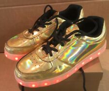Wize Ope Gold Light  Up Trainers