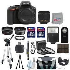 Nikon D5600 Digital SLR Cuerpo de Cámara + 3 Lentes 18-55 mm VR + Kit de todo lo que necesitas