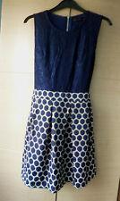 BNWT, SMART, NAVY BLUE, SLEEVELESS DRESS BY TENKI - SMALL UK 12