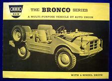 Prospekt brochure 1960 Auto Union DKW Audi Bronco Munga (USA)