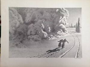 """Far and Colder"" Lithograph by Ellison Hoover"