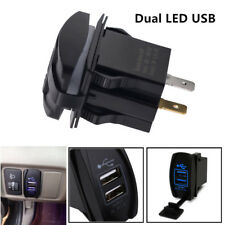 3.1A 12-24V Dual LED USB Car SUV Truck ATV Boat Power Supply Charger Port Socket