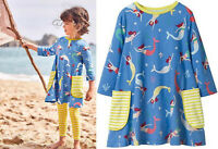 Mini Boden dress Mermaid print ages 2 3 4  9 10  swing tunic jersey