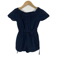 Witchery Girls Jumpsuit Romper Size 8 Navy Blue Boho Good Condition